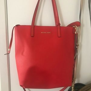 Michael Kors red tote